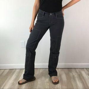 KUHL Lightweight Gray Cargo Hiking Pants Sz 4
